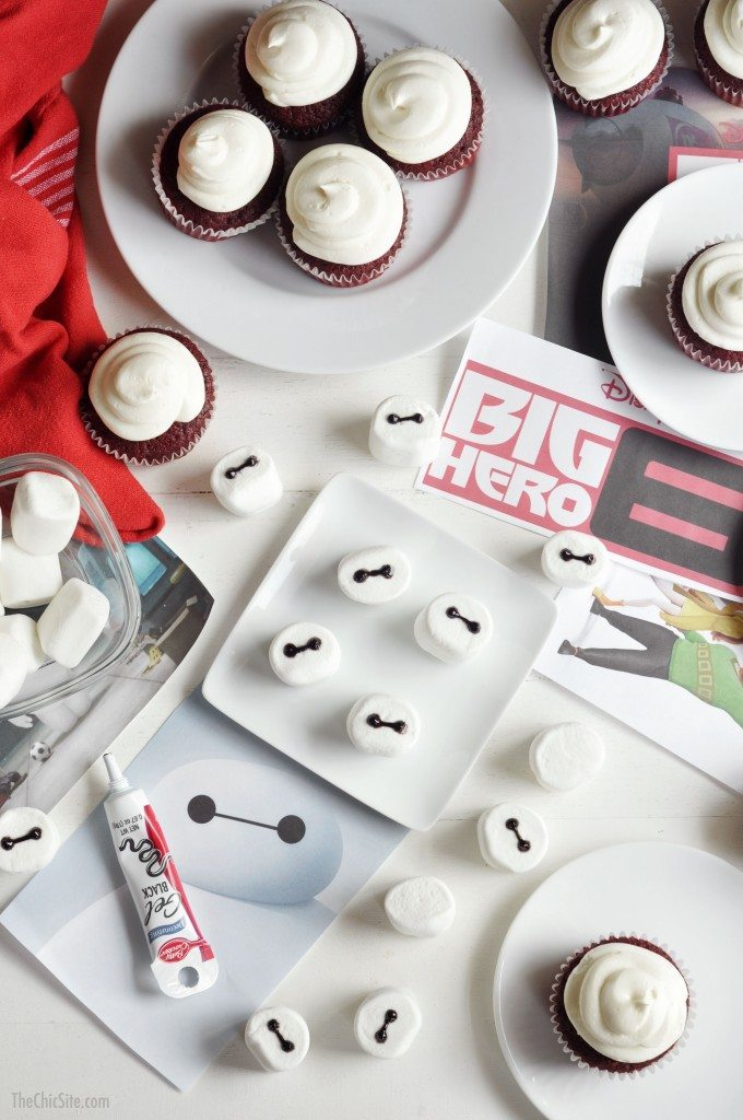 easy to make big hero six cupcakes