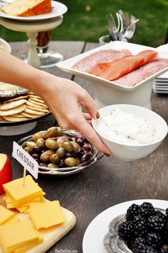 chic party tips for cheese displays