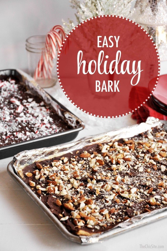 the chic site holiday bark