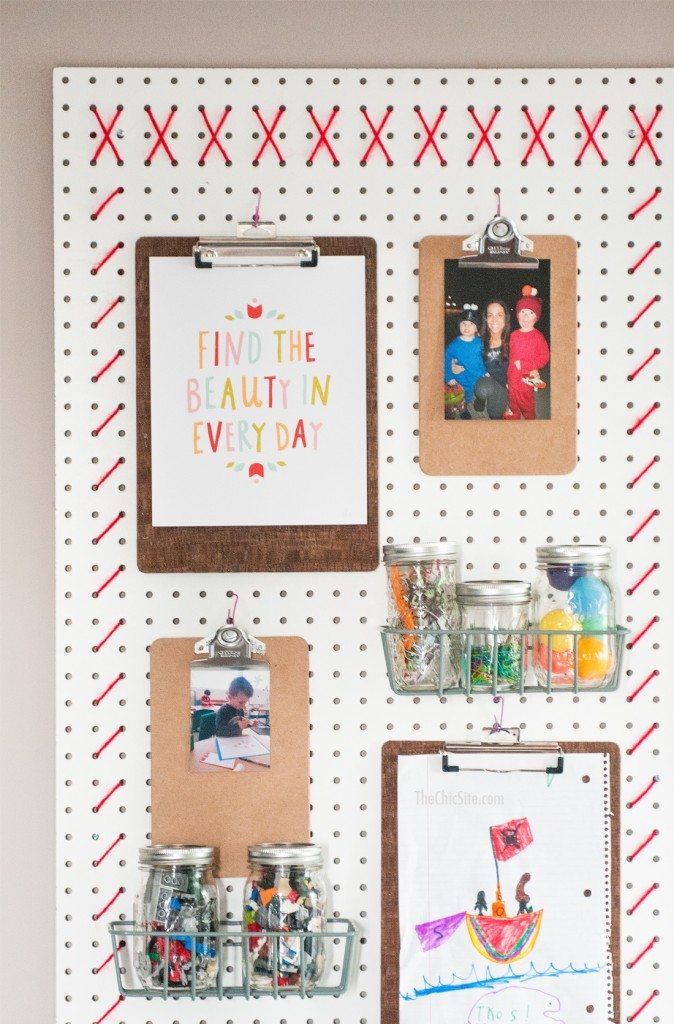 Peg Board Wall Organizers