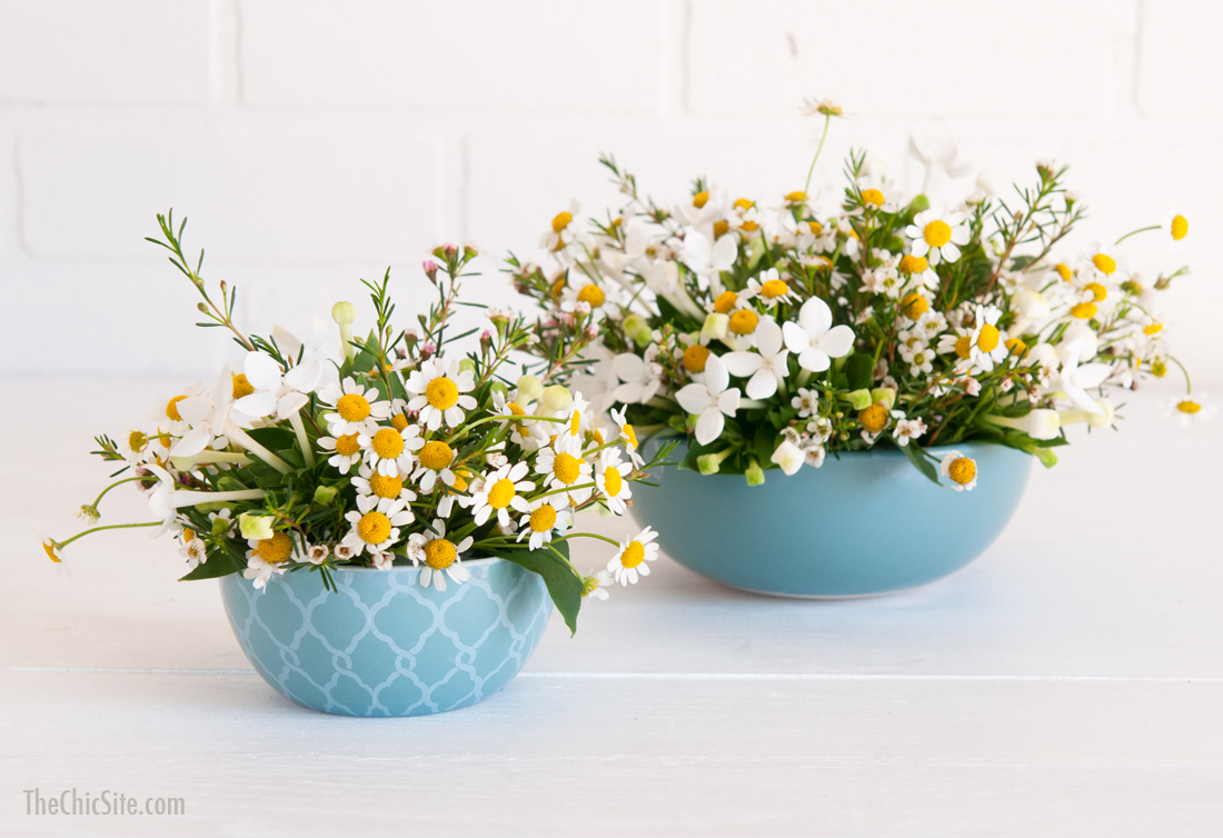 Flowers in a Mixing Bowl