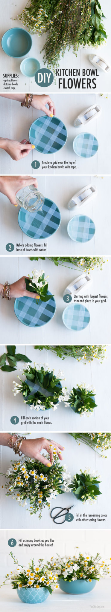 How to Arrange Flowers in a Bowl