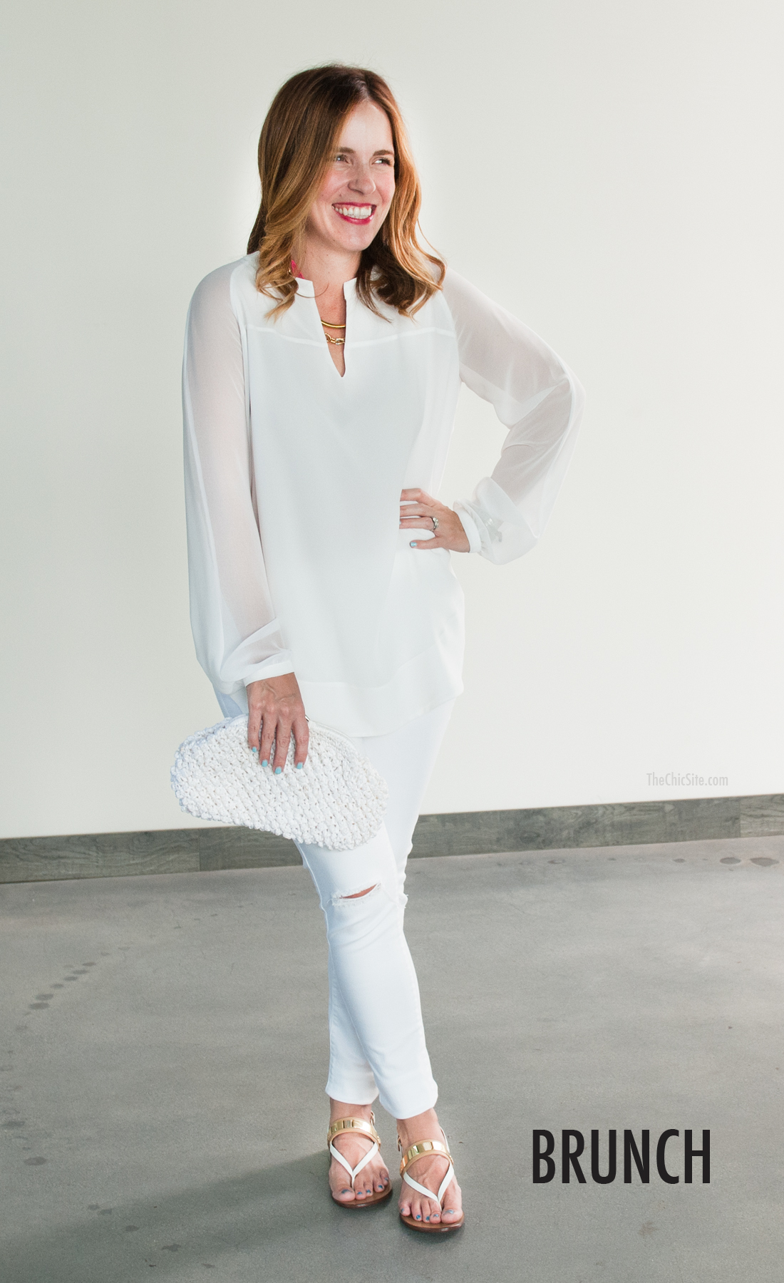 All White Outfit for Brunch