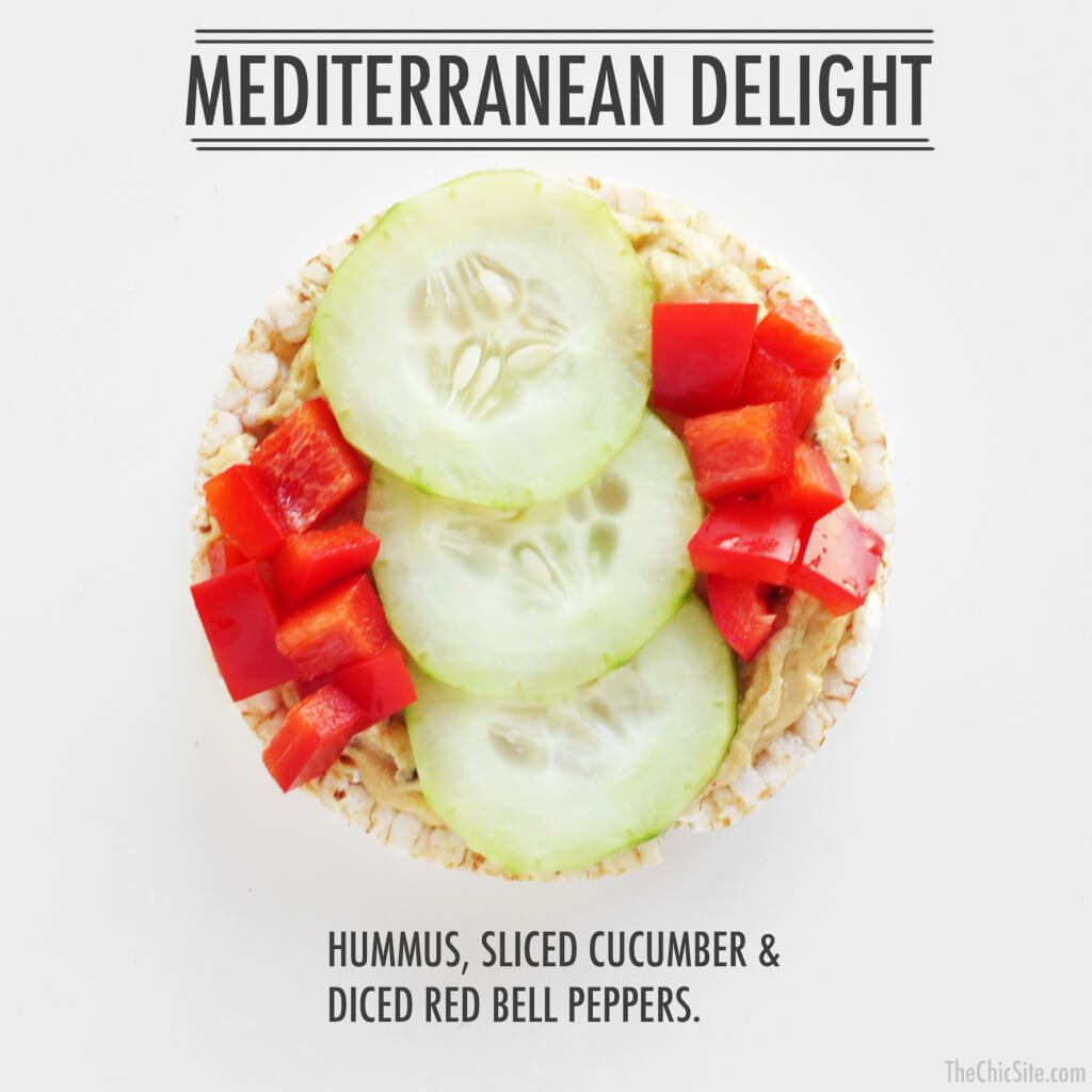 hummus cucumber and red bell pepper