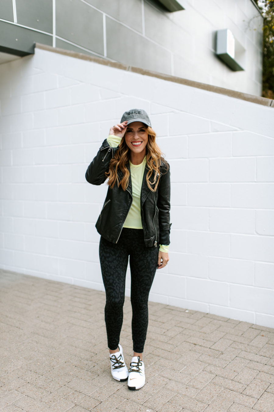 Rachel Hollis style, Rachel Hollis black leather jacket, Rachel Hollis style guide, how to wear a black leather jacket, black leather jacket style guide, fashion tips, fashion advice